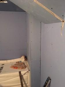bathroom new drywall stage