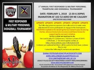 Dodge Ball $20 participant poster