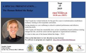 September 19 Free Webinar The Human Behind the Badge 1030 am MST 2 (002)